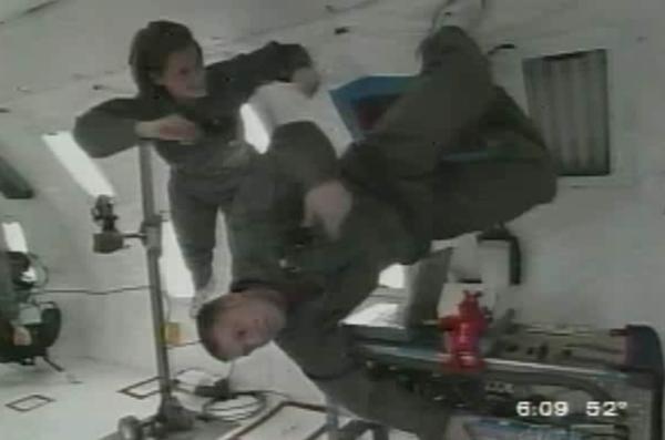 UIC students in NASA reduced-gravity flight